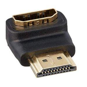 Trifycore Angle des adaptateurs de connecteurs HDMI à Un Angle de 90 degrés la TVHD HDCP 3D 4K Noir, Accessoires informatiques