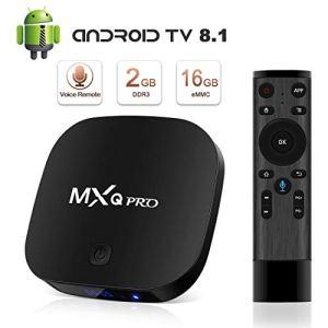 【Cyber Monday】 TV Box Android 8.1 Boîtier TV 4K 3D [2018 Dernière Version] [2GB RAM+16GB ROM] SUPERPOW MXQ Pro S Android 8.1 Smart TV Contrôle Vocal, Android Box avec HD/H.265 / 4K / 3D