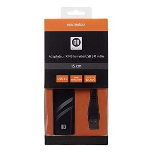 D2 Diffusion D2ADPUSB3RJ45 Adaptateur USB3.0 mâle/Femelle Noir