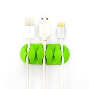 Xiton câble Clips Organiseur de câble Gestion de Cordon Multipurpose pour câble de Chargement/Mouse (Vert) 1PC