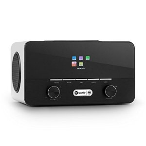 Auna Connect 150 WH • Internet 2.1 • numérique • WiFi • réseau • Dab/Dab+/FM RDS • Spotify • USB MP3 • AUX • 2 Enceintes • arrêt Auto • intensité réglable • Bois • Blanc