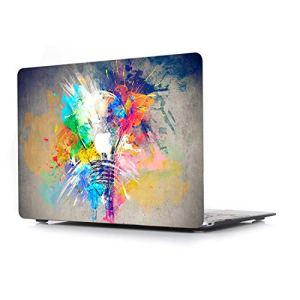 L2W Coque Rigide Apple MacBook Air 13 Pouces Modèle A1466/A1369 Ordinateur Portable Accessoires Housse Design Créatif Cover Ampoule