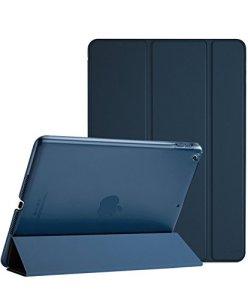 ProCase iPad 9.7 Étui 2018 iPad 6ème Génération / 2017 iPad 5ème Génération Housses – Ultra Léger Étui Stand avec Translucide Givré Retour Smart Cover pour 2018/2017 Apple iPad 9,7 Pouces –Bleu Marin