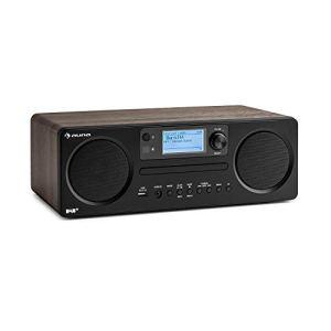 auna Worldwide Radio Internet CD avec Bluetooth • Lecteur CD avec Tuner Dab/Dab+ • Radio • Port USB-MP3 • Spotify Connect • AUX • App Control • Noyer
