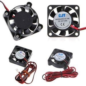 Jiamins Mini Ventilateur PC 40 mm, refoidisseurs et radiateurs, Ventilateur PC 4010 pour Boitier PC (24V, 7500 TR/Min, 26dBA, 8,92cfm)
