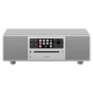sonoro Prestige 2.1 Radio Internet Numérique (FM/Dab/Dab+/WiFi, Lecteur CD, AUX-in, aptX Bluetooth, Multiroom, Spotify Connect) Argent – Chaîne HiFi