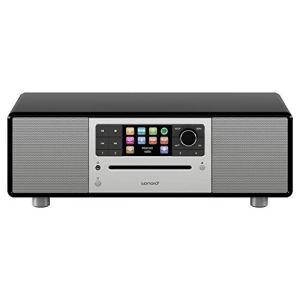 sonoro Prestige 2.1 Radio Internet Numérique (FM/Dab/Dab+/WiFi, Lecteur CD, AUX-in, aptX Bluetooth, Multiroom, Spotify Connect) Noir – Chaîne HiFi