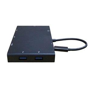 Studyset Type-C vers VGA + HDMI + USB3.0X 2+ Carte SD + Audio + RJ45+ PD Raccord