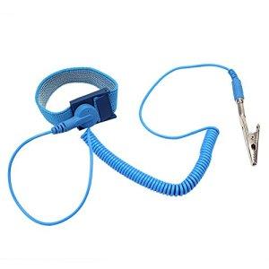 1 x antistatique antistatique poignet élastique bracelet de mise à la terre ESD Bracelet Bleu