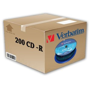 200 CD-R VIERGE VIDE VERBATIM 52 X 100 % 700MB EXTRA PROTECTION DE DONNÉES AUDIO