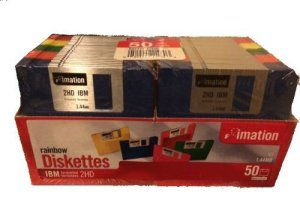 Imation 50 CT Rainbow disquettes IBM 2HD 1,44 Mo (discontinued)