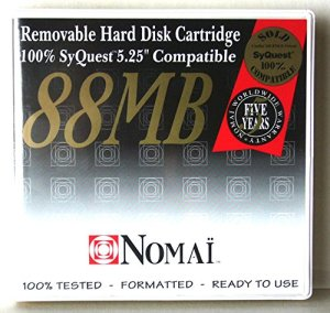 NOMAI MAGNETIC DISC, CARTRIDGE 88 MB, 5,25″ 100% COMPATIBLE WITH SYQUEST SQ800
