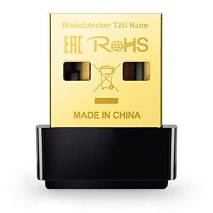 TP-Link Archer T2U Nano Adaptateur USB WiFi AC600 – Clé WiFi pour PC et PC Portable, Compatible avec Windows 10/8.1/8/7/XP, Mac OS 10.9-10.13