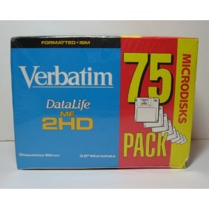 Verbatim DataLife MF 2HD disquettes 8,9cm (75-Pack)