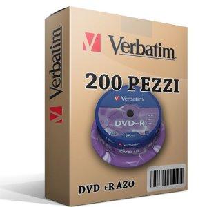 200Verbatim DVD + R vierges 100% Advanced AZO + Protection en cake box