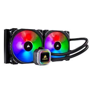 Corsair Hydro 115i RGB Platinum, Radiateur de 280mm (Deux ML PRO RGB de 140 mm PWM ventilateurs, Contrôle logiciel avancé de l'éclairage RGB et des ventilateurs) Refroidissement Liquide – Noir