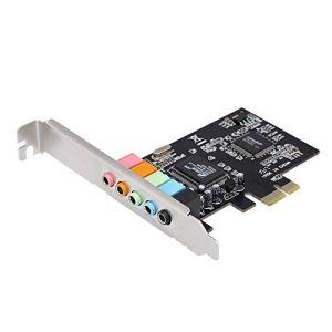 Docooler PCI-E Express Carte 5.1 Son 5 Port Carte Son Surround Stéréo Carte Son pour Bureau