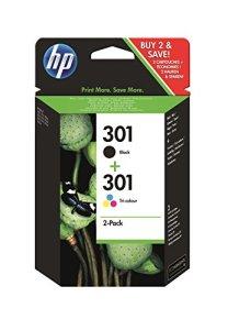 HP N9J72AE 301 – Cartouche d'encre originale – Noire et Tricolore – Lot de 2