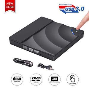 Lecteur CD DVD Externe, ShangQia Lecteur Graveur CD/DVD-RW USB 3.0, Driver Électrique Ultra Slim Super pour PC Et Ordinateur Portable Compatible avec Windows XP/Vista / 2003/10 / 8/7 /Mac OS
