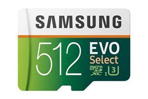 Samsung MB-ME512GA/EU Evo Select Carte mémoire microSDXC avec Adaptateur SD Classe 10 512 Go