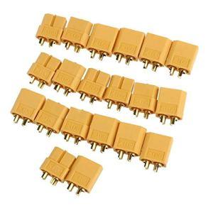 Aofocy Connecteurs Bullet de qualité supérieure – 10 Paires Connecteurs XT60 Femelles/mâles pour Batterie RC