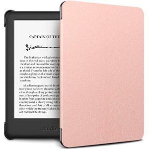 Infiland Housse Étui pour Amazon Kindle 2019 (10ème génération), Slim Coque Cover Case de Protection avec Fonction Veille/Réveil Automatique, Rose Or