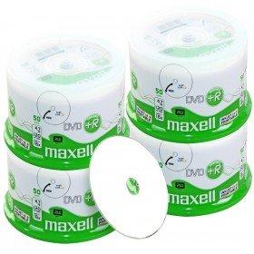 Maxell DVD+R 4.7 Go/120 Min, Full Printable, 200 Pièces en Cloche