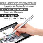 Moko Stylet Surface, Stylo Capacitif 4096 Niveaux de Points de Pression Haute Sensibilité Stylus Compatible avec Surface Go/Surface Pro 6 / Pro 5 (2017) / Pro 4 / Pro 3 / Surface Book – Argent