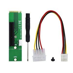 Raycity Pack 1 PCI-E 4X 1X vers NGFF M.2 Carte de transfert M2 M Clé vers PCIE Adaptateur pour PCIE 1X vers 16X PCI-E Carte Riser pour BTC LTC ETH Mining