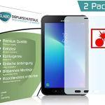 Slabo 2 x Film de Protection d'écran blindé pour Samsung Galaxy Tab Active 2 Film de Protection Shockproof Résistant aux Chocs Invisible Made in Germany