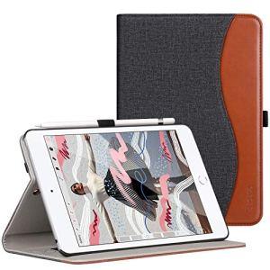 Ztotop Coque pour 2019 Nouveau iPad Mini 5,Cuir Etui Housse Case Cover pour ipad Mini 5 7,9 Pouces avec la Fonction Sommeil/Réveil Auto,Poche à Dossier,Multi-Angles,Denim Noir