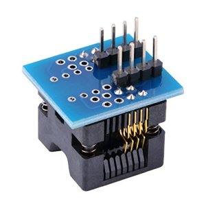 Adaptateur SOP8 à DIP8 EZ pour Programmeur, Plastique Bleu et Noir et électronique 22 x Durable SOIC8 Module de Conversion pour Adaptateur SOP8 à DIP8 EZ pour Programmeur