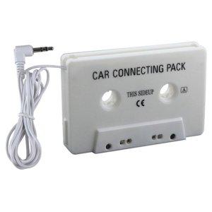 Adaptateur voiture Cassette Audio, blanc