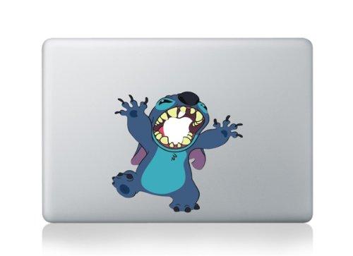 Autocollants motif Stitch pour PC portable MacBook 33cm/13»