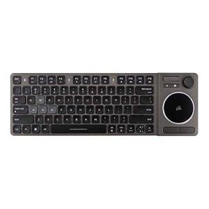 Corsair K83 Clavier Multimédia Sans fil, LED Blanche Rétroéclairée, Aluminium Design, AZERTY FR Layout – Noir