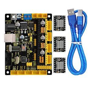 KEYESTUDIO imprimante 3d Controller kit pour Arduino avec CNC Shield V0.9 a, 4 pcs A4988 pilote de moteur pas à pas avec dissipateur thermique Kits pour Arduino RepRap