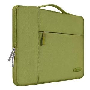 MOSISO 13-13,3 Pouces Housse Compatible MacBook Air 13/MacBook Pro Retina 13/MacBook Pro 13 avec CD-Rom, Laptop Sleeve Multifonctionnel Sac à Main en Polyester, Capulet Olive