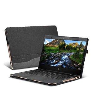 Nouveau Design Coque pour HP Spectre x360Ordinateur Portable 33,8cm Coque Rigide Housse étui Cuir PU Coque de Protection Gris