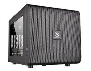 Thermaltake – Core V21 – Micro-Tour Boitier PC avec fenêtre (Micro-ATX / Mini-ITX) Noir