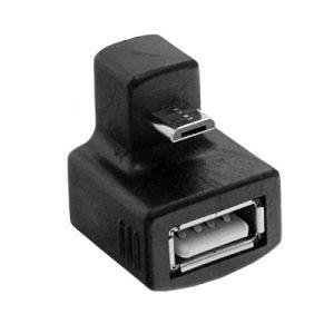 TOOGOO 180 Degres Up Angle Droit Mini USB OTG vers USB 2.0 Adaptateur D'Extension Femelle pour Telephone Portable et Tablette
