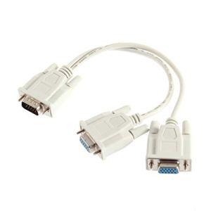 1 câble VGA mâle à 2 câbles séparateurs VGA Femelles Moniteur VGA SVGA à Deux Voies Double Graphique LCD TFT Câble séparateur Y et câble