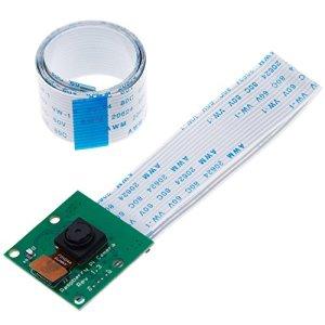 Anpro Caméra Module 5 Millions Pixels Caméra d'interface CSI avec 15cm et 100cm câble pour Raspberry Pi 3 Model B B+ A+ RPi 2 1 Camera