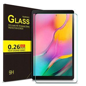 ELTD Protection écran pour Samsung Galaxy Tab A T515/T510 10.1 2019, 9H, 2.5D Verre Trempé Film Protection d'écran pour Samsung Galaxy Tab A T515/T510 10.1 2019 Tablette, (1-Pack)