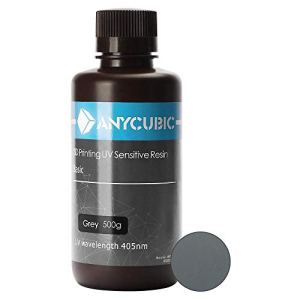 ANYCUBIC 405nm Rapid Resin pour imprimante 3D Photon DLP LCD UV Résine d'impression 500ml, Gris