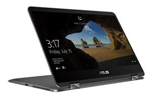 Asus Zenbook Flip UX461FA-E1059T Ultrabook 14″ Gris (Intel Core i5, 8 Go de RAM, SSD 256 Go, Windows 10) Clavier Azerty Français
