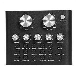 HWZDQLK Carte Son Audio Casque Stéréo Microphone Webcast Streamer Carte Son Live Black