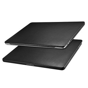 ICARER Coque MacBook Pro 15, Étui Housse en Cuir [Ultra Mince Série] Protection Case Cover pour MacBook Pro 15 Retina Display Model: A1707/A1990 2016&2017&2018 (Noir)