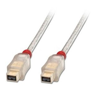 Lindy 30758 – Câble FireWire Premium 800 – 9 pins Bêta mâle vers 9 pins Bêta mâle – 4,5m
