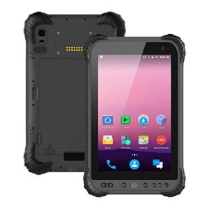 LLC- CLAYMORE Android 7,1 OS Ultra Rugged Industrie Tablet PC avec écran Tactile IPS 8 Pouces, Qualcomm Snapdragon 435 Cortex A53 8 Core CPU 3GB RAM + 32GB ROM WiFi GPS BT NFC
