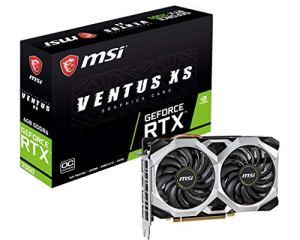 MSI RTX2060 Ventus XS V375-035R Carte Graphique GeForce RTX 2060 6 Go GDDR6 – Cartes Graphiques (GeForce RTX 2060, 6 Go, GDDR6, 192 bit, 7680 x 4320 Pixels, PCI Express x16 3.0)